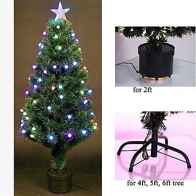 2ft Fibre Optic Pre-Lit Christmas Tree With Star Led Lights Xmas Decoration