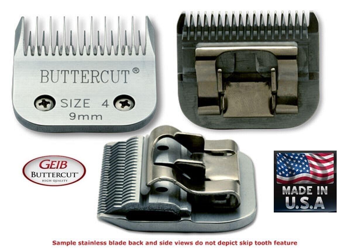Geib Buttercut 4 Skip Dente 1cm Lama per Oster A5 A6, Molti Andis Wahl Tosatrice