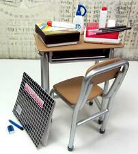 Re-ment size - Mimo School Classroom table,chair and accessories # 2