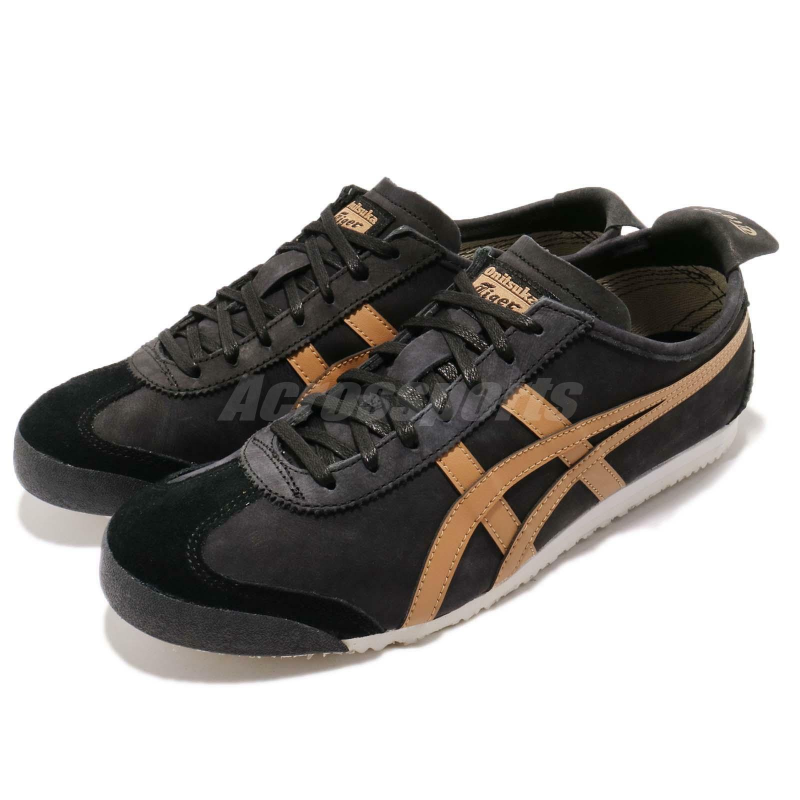 Asics Onitsuka Tiger Mexico 66 zwart bruin mannen hardlopen schoen sneaker 1183A19-8001
