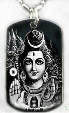 HINDU GOD SHIVA Dog tag Necklace or Key chain + FREE ENGRAVING