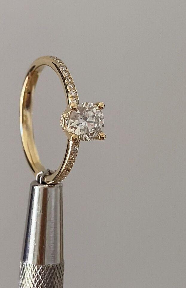Ring, diamant, Daimantring 1,00 carat