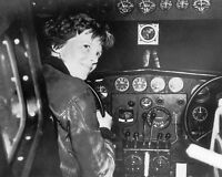 Female Aviator Amelia Earhart in Cockpit 8x10 Silver Halide Photo Print