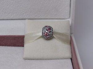 New Pandora W/ Box Shimmering Heart Fancy Pink Cz's Charm 791249 Czs Love Heart by Pandora