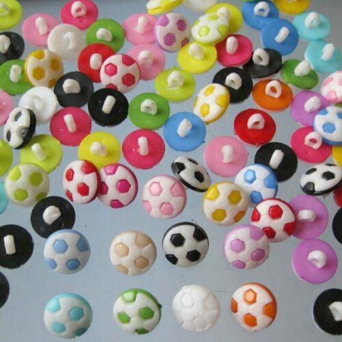 Bottoni a Forma di Calcio-Sport Calcio Bambini Cappotto Cucito Shank pulsante 13mm-HD051