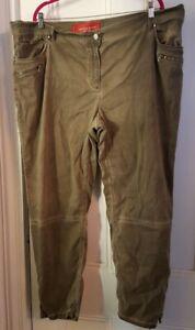 Marina Rinaldi Brown Pants sz 33 (US 24) Italian Designer with Zipper Flare