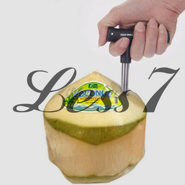 Coconut Opener Kitchen Tool Gadget Coco Water Punch Tap Drill Straw Cut knife