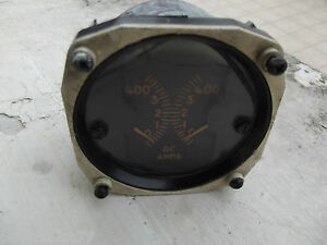 WW2-USAAF-Amps-D-C-Indicator-50-039-s-By-The-Hickox-Instruments-Electrical-co-Plane