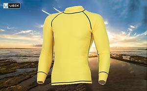 Rash Guard Long Sleeve Shirt Sun Protection Swimming Surf Sailing Kite Rashie