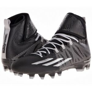 Image is loading Adidas-Dual-Threat-Mid-Techfit-Athletic-Black-Football-