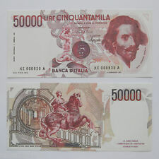 RIPRODUZIONE 50.000 LIRE BERNINI I SERIE SOSTITUTIVA XE RARA REPUBBLICA LIRA FDS