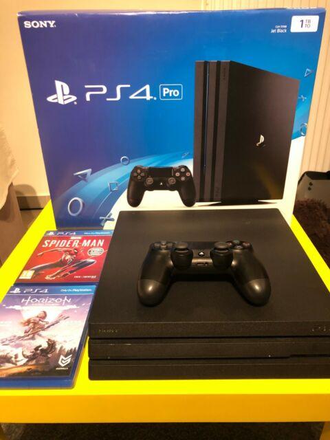 Sony PlayStation 4 Pro 1TB Jet Black Console & 2 Games Bundle
