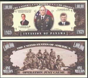 INVASION-OF-PANAMA-w-GEORGE-BUSH-BILL-LOT-OF-10-BILLS