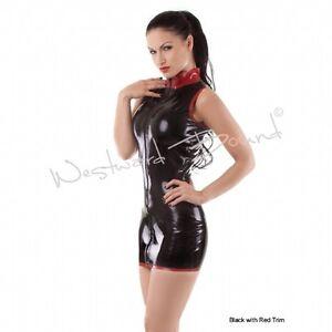 33eca3b0e8 Image is loading R0071-LATEX-DRESS-GUMMI-BURLESQUE-FETISH-DIVA-DRESS-