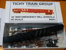 Tichy Train Group HO #4041 (52' Mill Gondola War Emergency Car) Kit Form