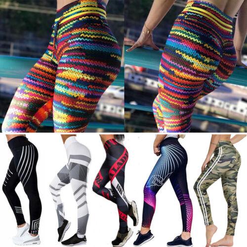 Women High Waist Gym Leggings Stretch Yoga Pants Fitness Sports Workout Trousers