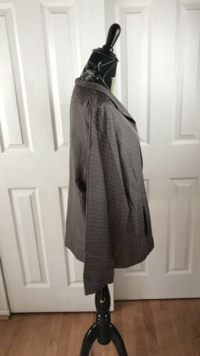 M Open Grey Fisher Shimmery Jacket From Taglia Long Eileen Leggero zBqwgtWE