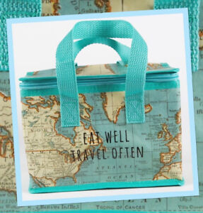 Quirky-And-Fun-Retro-Style-Vintage-Map-Insulated-Lunch-Cool-Bag