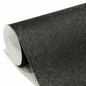 Pellicola adesiva nero con glitter per car wrapping e tuning auto e moto