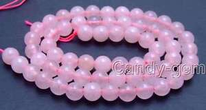 """6mm Round Pink Jade Gemstone Beads for Jewelry Making DIY Loose Strands 15"""" l511"""