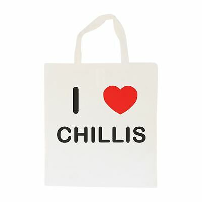 I Love Chillis - Cotton Bag | Size choice Tote, Shopper or Sling