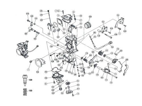 Washer Pilot Screw Keihin FCR Carburetor Diagram Part # 35 SUZUKI DRZ 400
