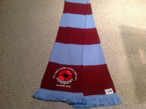 ASTON VILLA EMBROIDERED POPPY SCARF LEST WE FORGET.LTD EDITION.FREE POST