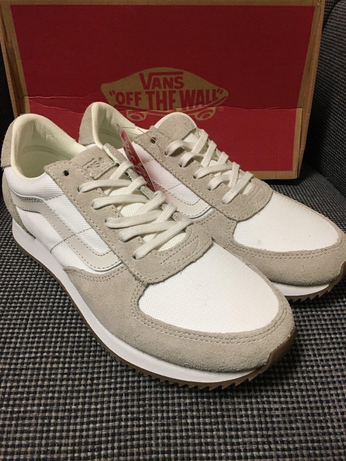 VANS Runner white de white Cream White Men's shoes size 7.5, Women 9