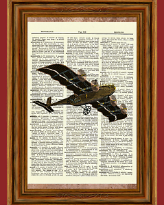 ADVERTISING EXHIBITION AVIATION PLANE FLY DONCASTER ART POSTER PRINT LV746