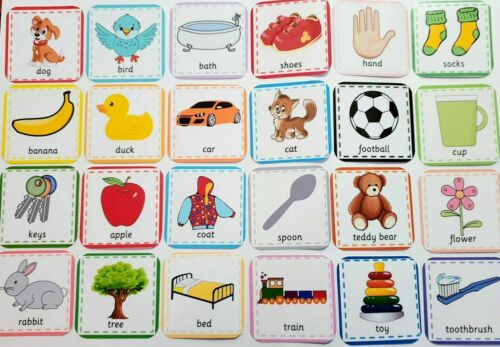 Reading-Starting school Baby//Toddler Language FIRST WORDS FLASH CARD