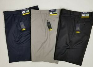Britches-By-Samtex-Mens-10-034-Flat-Front-Easy-Care-Flex-Waistband-Golf-Shorts-New