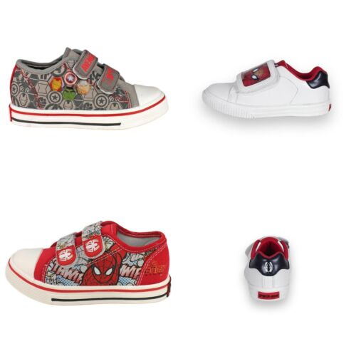 Boys Spiderman shoes sport trainers white