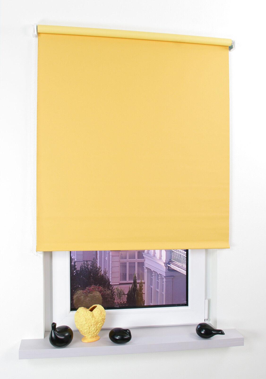 Kettenzugrollo Seitenzugrollo Fenster Rollo Sonnenschutz gelb verdunkelnd
