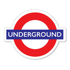 2 x Underground Sign- London Tube, car, van, laptop decal sticker
