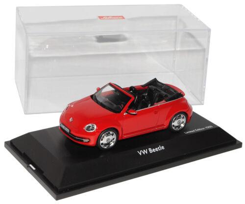 VW Volkswagen nuevo escarabajo II 2 tornado rojo convertible 2012 9 1//43 SCHUCO modelo...