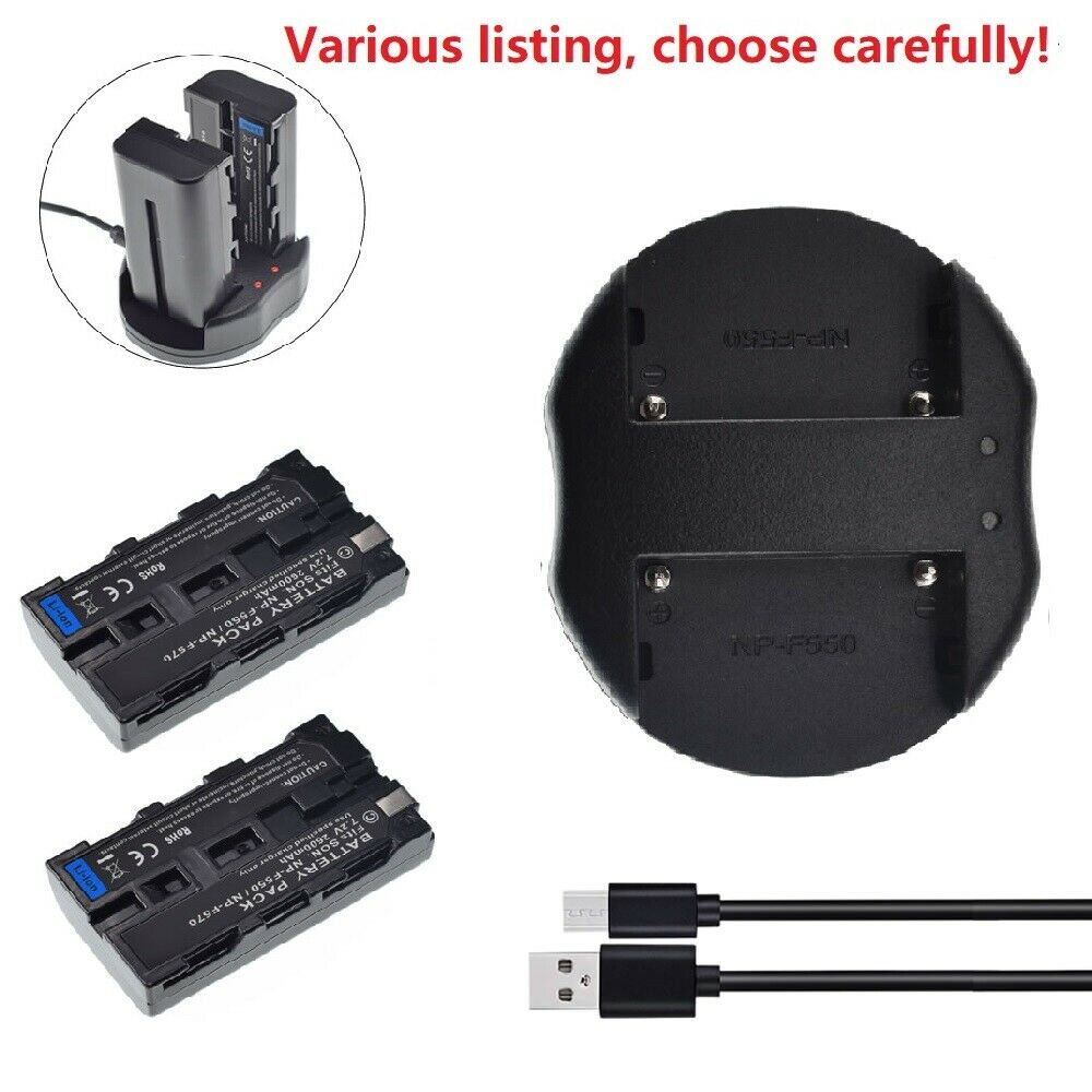 Replacement Battery or charger for Sony NP-F550 CCD-TRV57 CCD-TRV58 CCD-TRV59