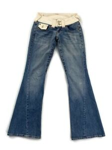 True-Religion-Women-039-s-Blue-Flare-Leg-Jeans-Size-26-100-Cotton