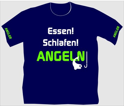 Angler T-Shirt Fische Kescher Kinder Übergrößen Anglershirt Funshirt Angeln 13
