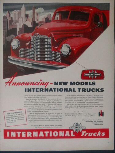 Vintage International Harvester Caminhão Garagem Decoração caverna Homem imprimir Ad #1500