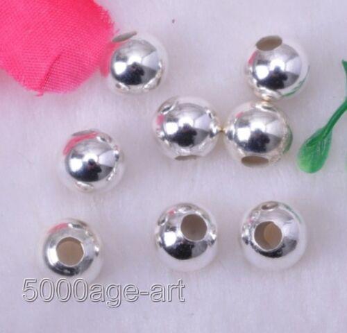 500pcs Plata-Metal Plateado Redonda granos espaciador 3.2 mm B1