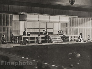 1929-JAPAN-Vintage-Photo-Gravure-TOKYO-JAPANESE-THEATRE-Performance-Oriental-Art