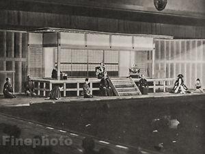1929-JAPAN-Vintage-Photo-Gravure-TOKYO-JAPANESE-THEATRE-Performance-Oriental-Art