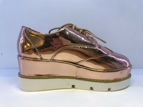 Lace Bronze Asos Size 4 Metallic Up Platform Pumps wtrrdgq