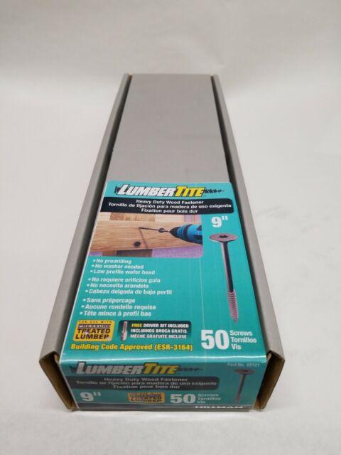 The Hillman Group 48121 9-Inch Lumbertite Star Screw 50-Pack