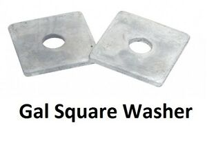 Qty 300 Square Washer M12 (12mm) x 38mm x 38mm x 3mm Galvanised HDG Galv SQR