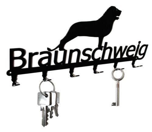Braunschweig Löwe Schlüsselbrett Heinrich der Löwe Metall 6 Haken