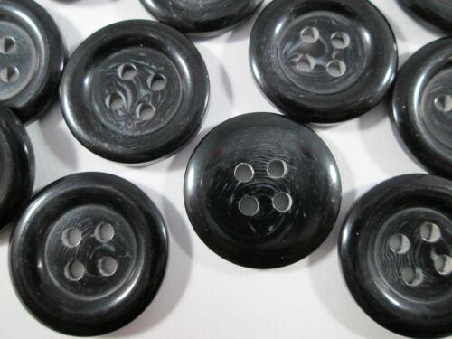 Bouton Boutons 30 Pièce noir chiné 20 mm taille #2540#