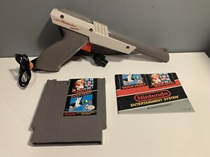 Nintendo-NES-Lot-Mario-Bros-amp-Duck-Hunt-1989-Cartridge-Instruction-amp-Zapper