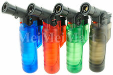 3 Pack Mini Table Jet Torch Lighter Adjustable Butane Refillable Frosty J472L