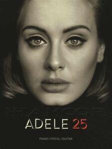 Adele 25 Piano Vocal Guitar Sheet Music Book Hello Millions D'années Remède-afficher Le Titre D'origine